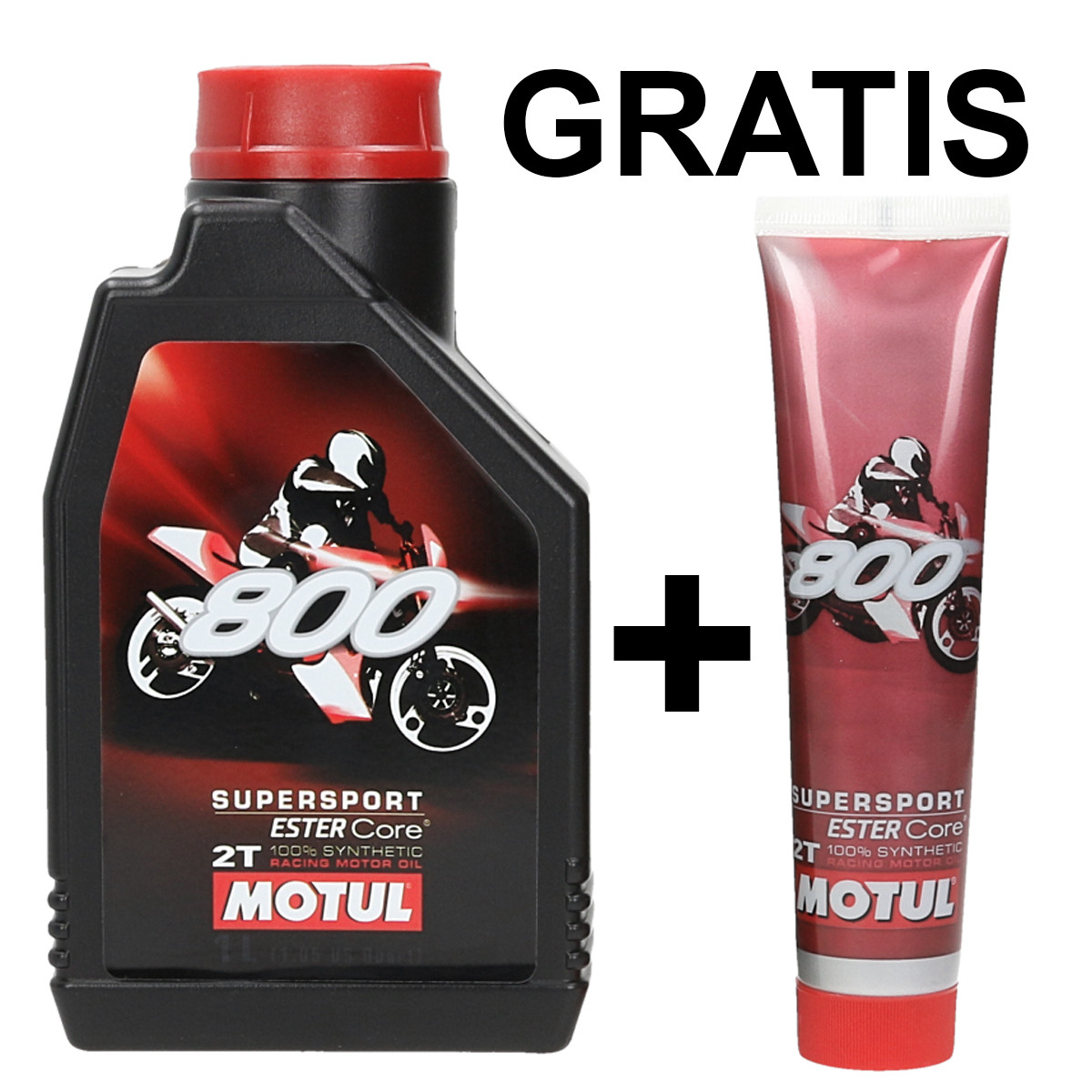 Aceite MOTUL 800 2T Supersport 1L + TUBO 125ML GRATIS